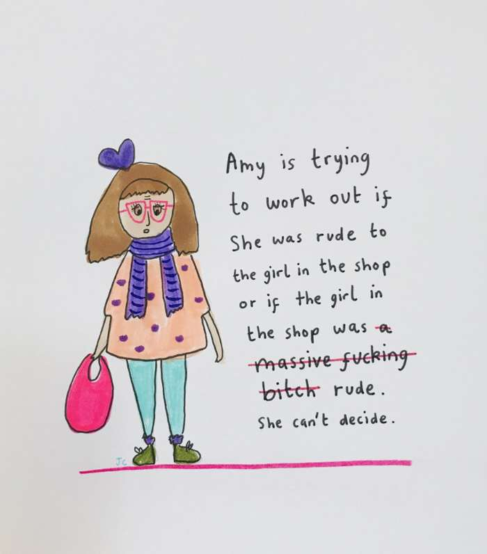 GIRL IN THE SHOP PRINT - Jessie Cave