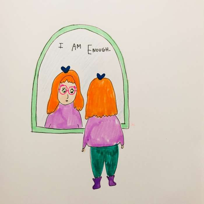 I AM ENOUGH PRINT - Jessie Cave