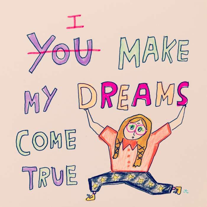 I MAKE MY DREAMS COME TRUE PRINT - Jessie Cave