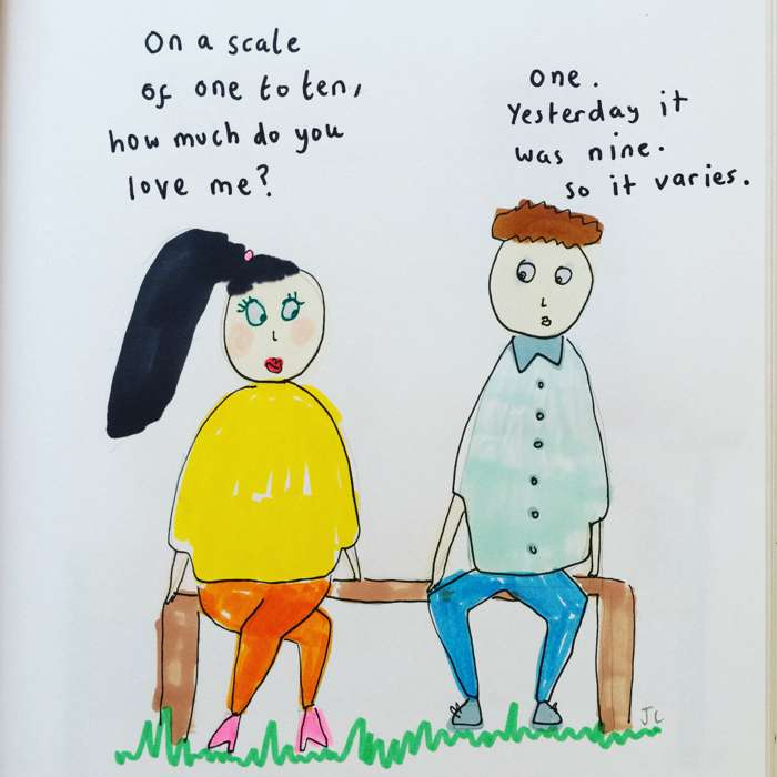 ON A SCALE PRINT - Jessie Cave