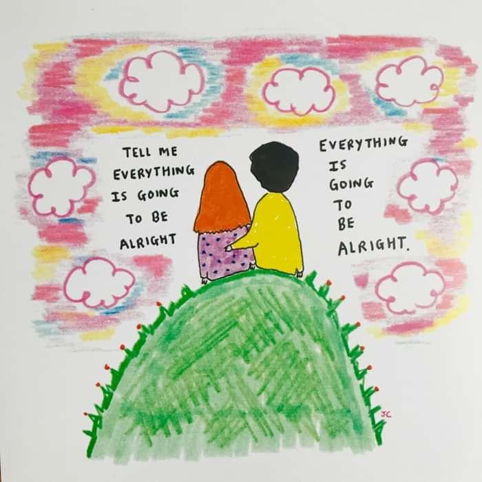 PINK SKY ALRIGHT PRINT - Jessie Cave