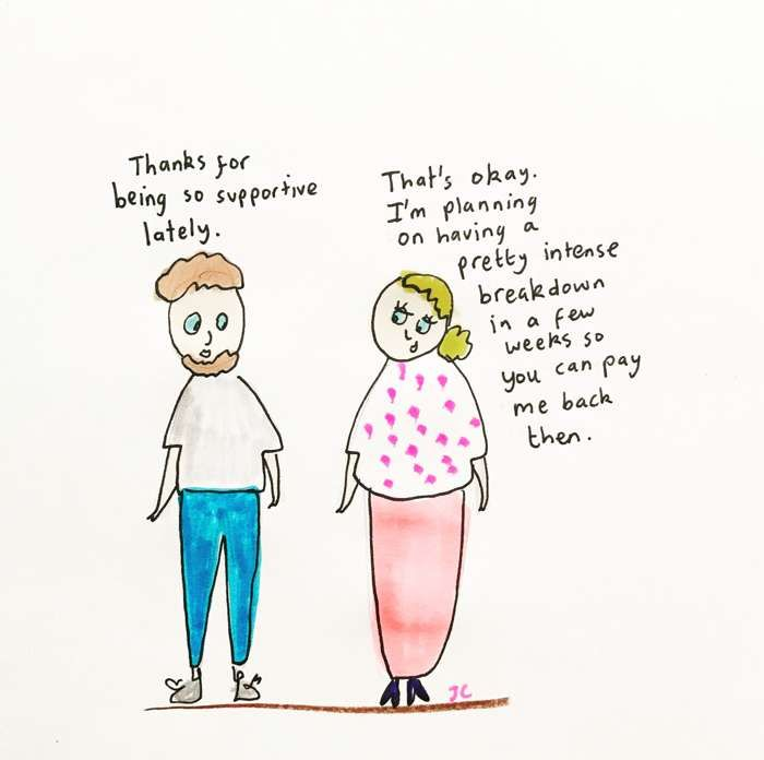 SUPPORTIVE PRINT - Jessie Cave