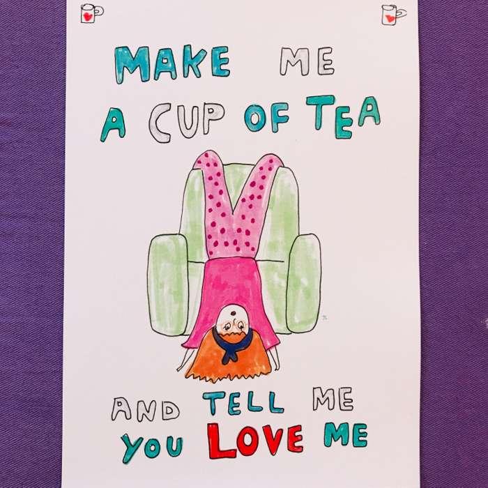 TEA PRINT - Jessie Cave