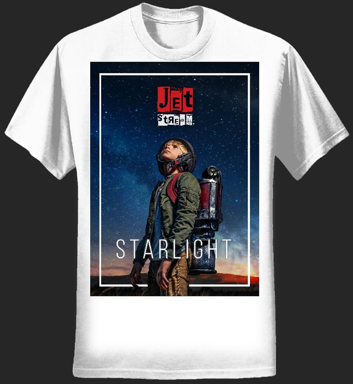 MENS - 'STARLIGHT' TEE (White) - Jetstream