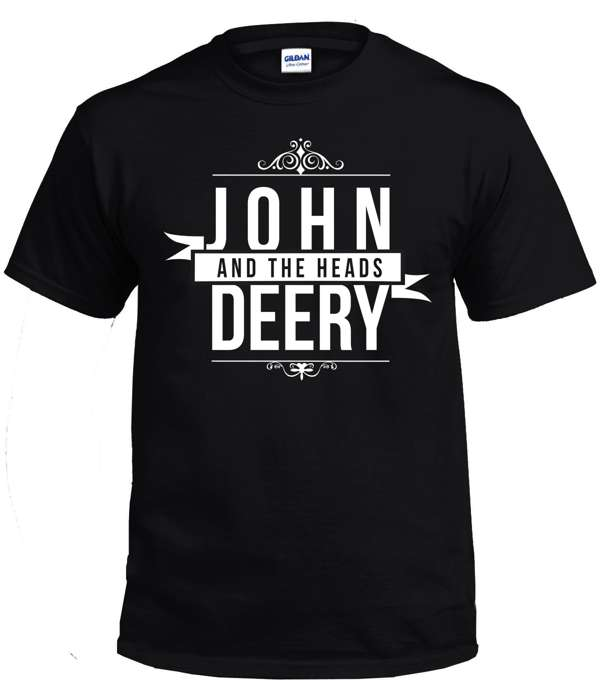John Deery and The Heads Logo T Shirt only £15 - John Deery and The Heads