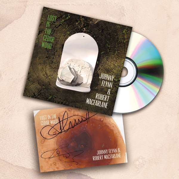 Johnny Flynn and Robert Macfarlane - Lost In The Cedar Wood (CD + Signed Postcard) - Johnny Flynn & The Sussex Wit (UK Merch)