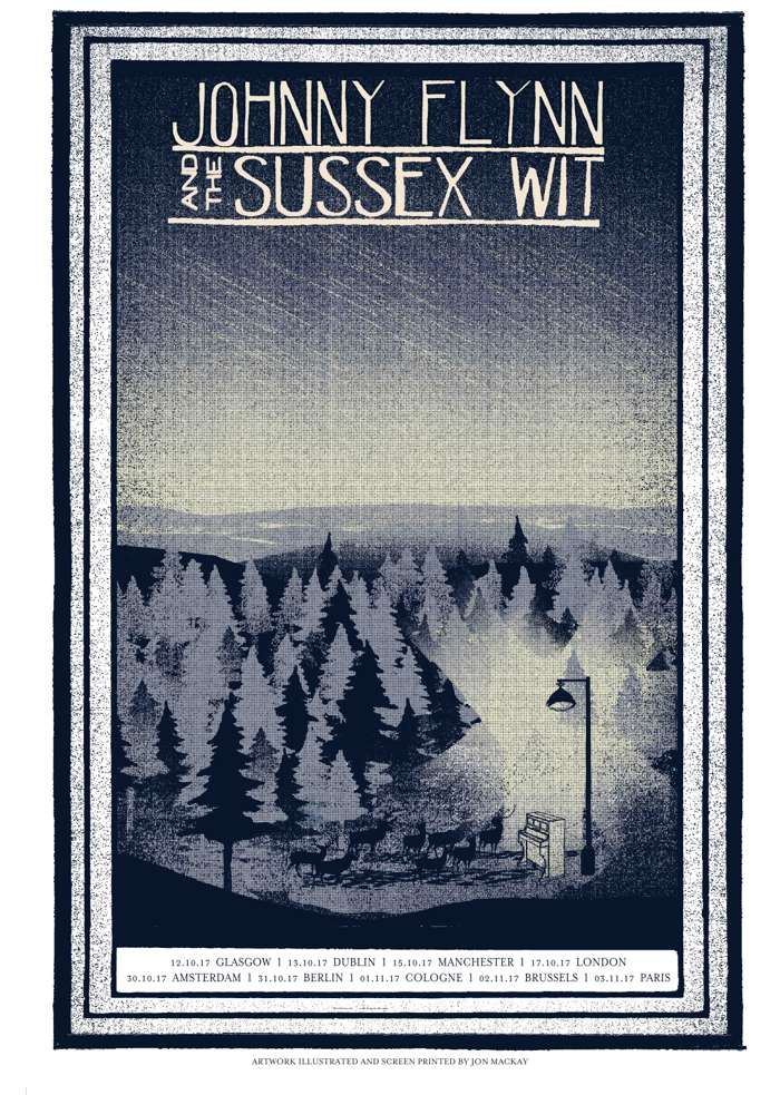 Sillion Tour poster - Johnny Flynn & The Sussex Wit (UK Merch)