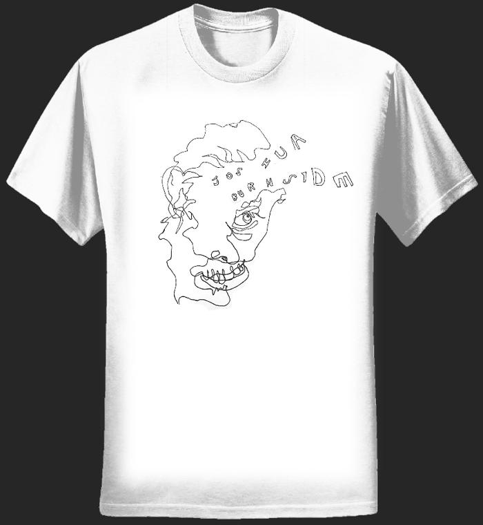 NEW T-SHIRT! Scribble-face white t-shirt - Joshua Burnside