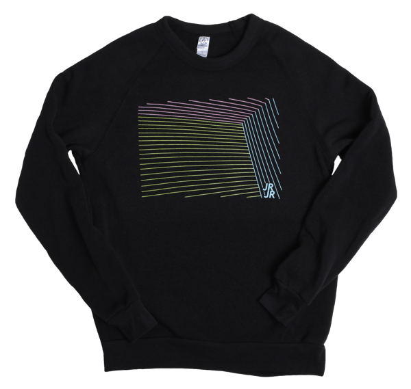 JR JR Lines Black Sweatshirt - JR JR