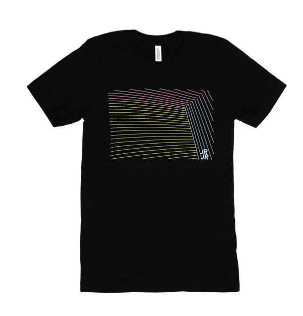 JR JR Lines Black T-shirt - JR JR