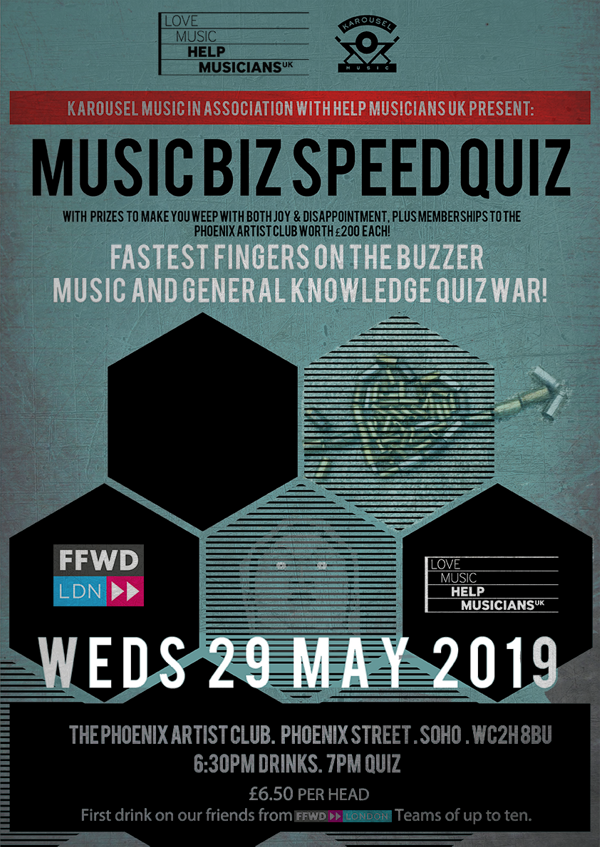 Music Biz Speed Quiz #QUIZWAR! at The Phoenix Artist Club, London on