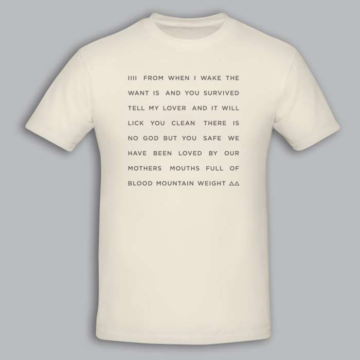 """Off White """"From When I Wake The Want Is"""" Text Tshirt - kathryn joseph"""