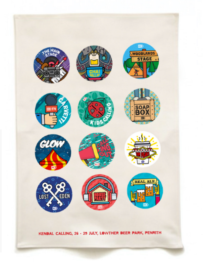 2018 KC Tea Towels (FINAL REMAINING) - Kendal Calling