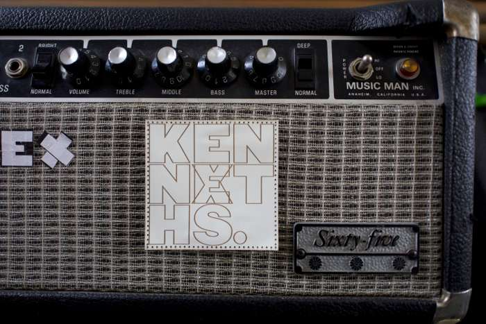 LIMITED EDITION WHITE LEATHER KENNETHS EX PATCH - The Kenneths