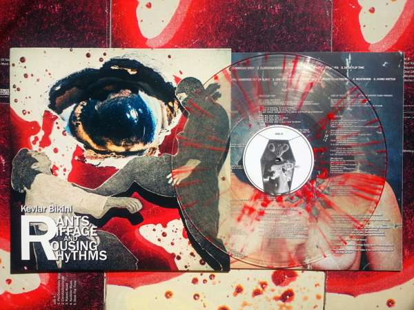 "12"" LP, Clear w/Red Splatter - Kevlar Bikini"