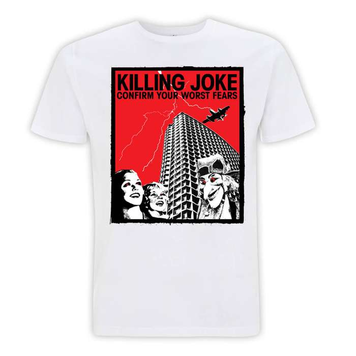 Confirm Your Fears White T-Shirt - Killing Joke