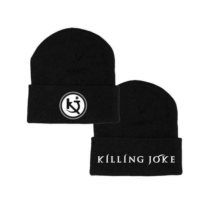 Embroidered Logo Black Beanie - Killing Joke