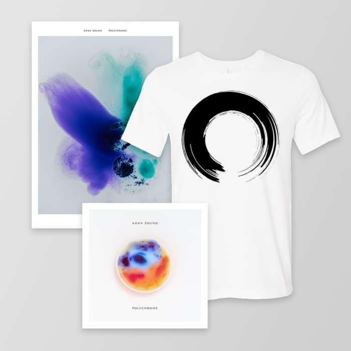 Polychrome Double LP + 'Enso' T-Shirt + A3 Poster - KOAN Sound USD