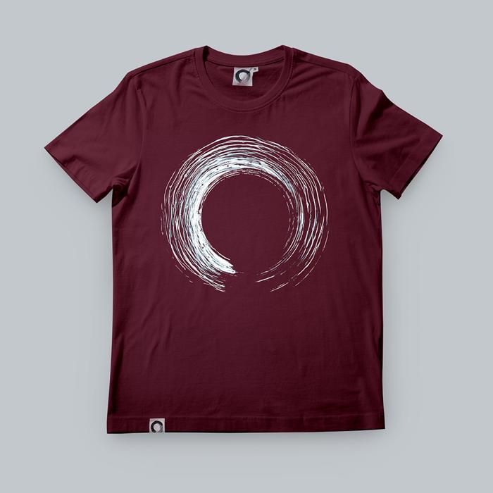 'Enso' Maroon T-Shirt - KOAN Sound