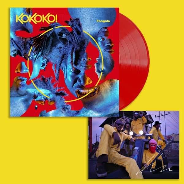 Fongola - Limited Red LP + SIGNED photo - KOKOKO! USD