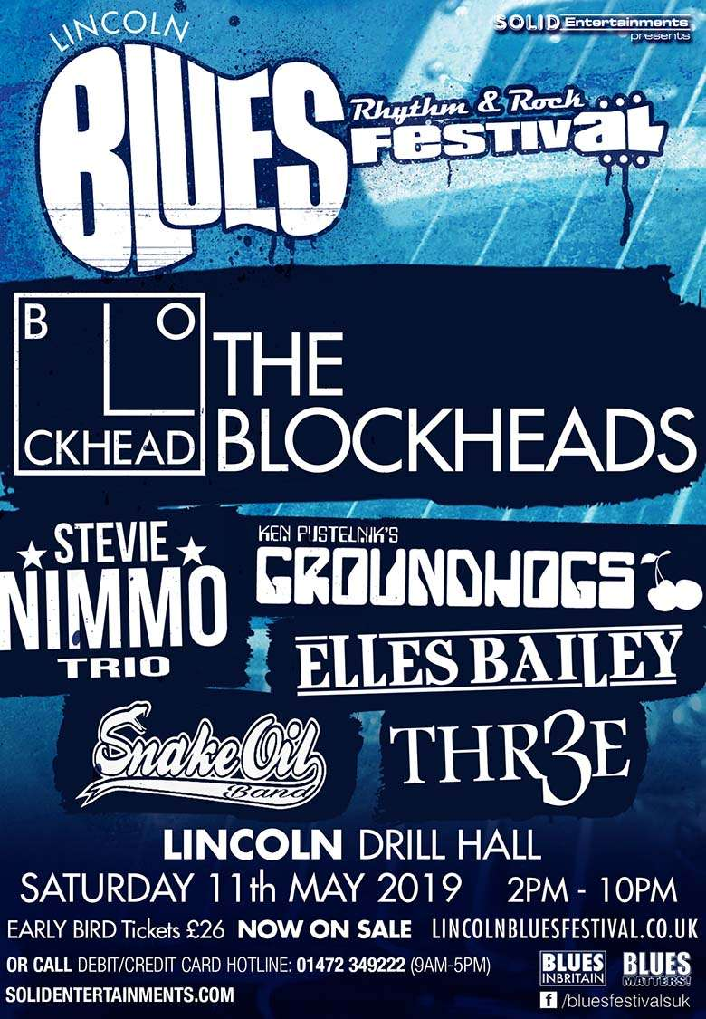 LINCOLN ROCK & BLUES FESTIVAL at Drill Hall, Lincoln, Lincoln on 11