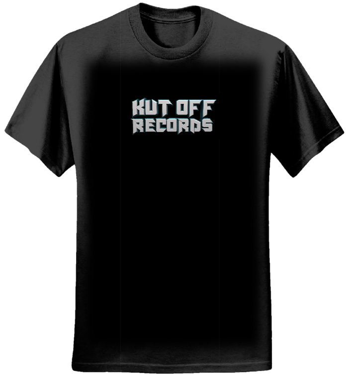 Men's Black Kut Off Logo T-Shirt - KUT OFF RECORDS