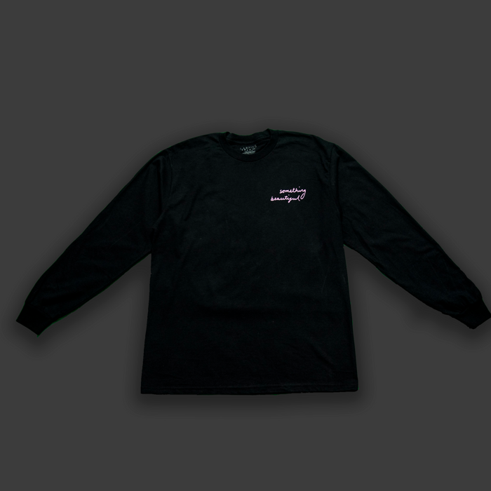 Black Long Sleeve T-shirt (Handwritten lyrics) - Larkins