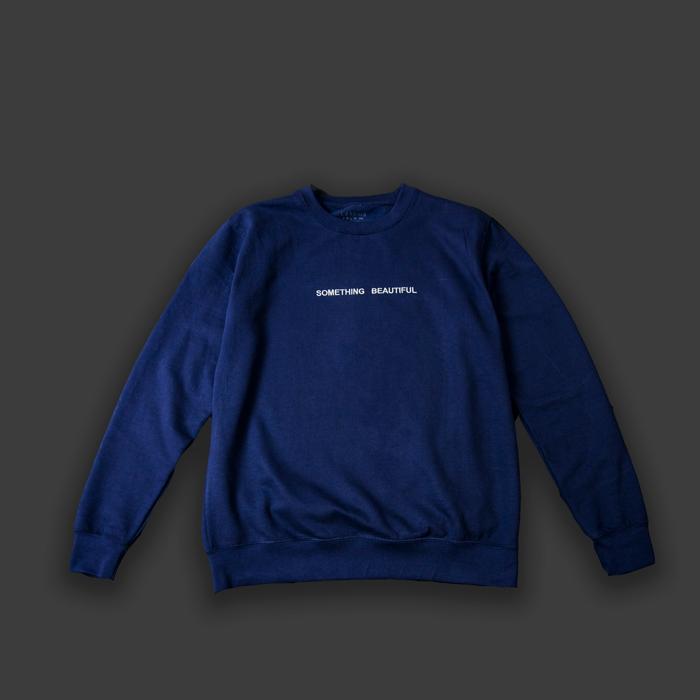 Something Beautiful - Navy Sweatshirt - Larkins