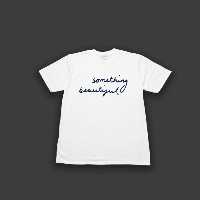 White 'Something Beautiful' T-shirt - Larkins