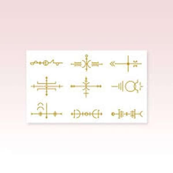 Metallic Gold Sigil Tattoo Sheet - Laura Marling Merch