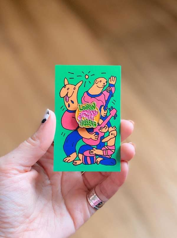 dogs dogs dogs enamel pin badge - Lauran Hibberd