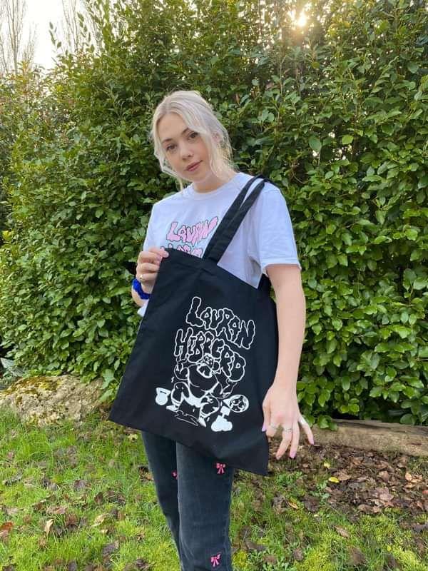 The 'do ya think ur hard enough' tote bag - Lauran Hibberd