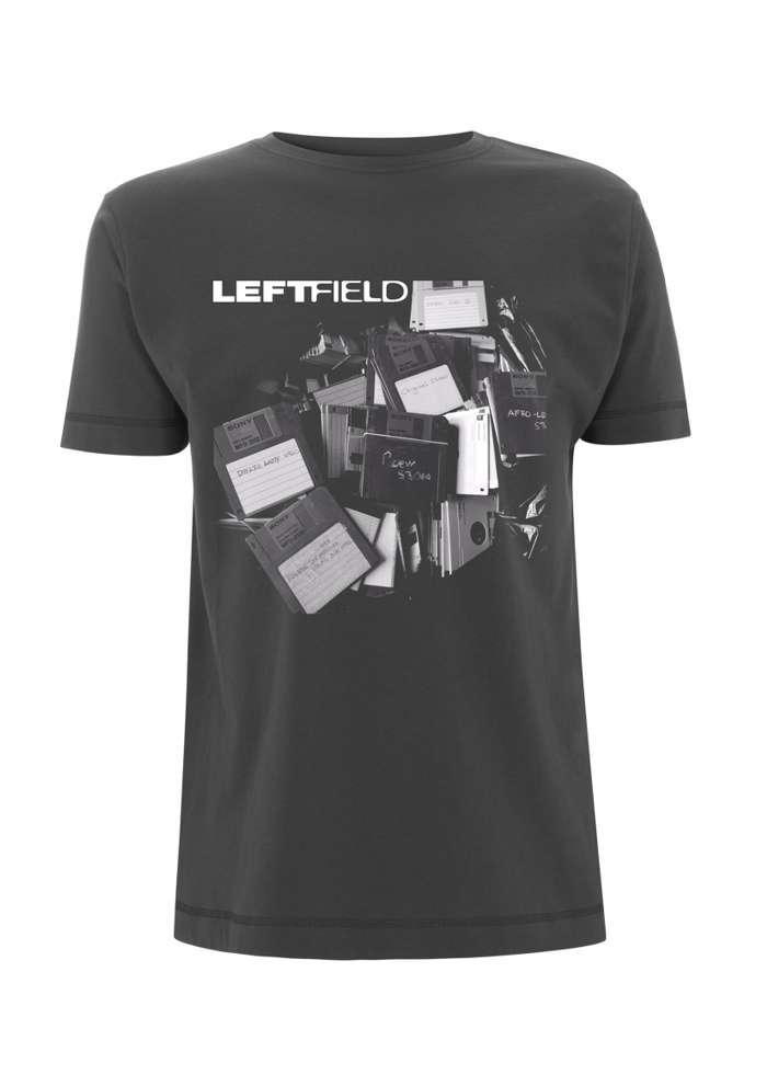 Floppy Discs – Charcoal Tee - Leftfield