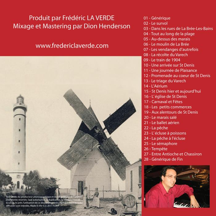 """Bande Original du Film : """"Saint-Denis-d'Oleron, La Brée-les-Bains d'Hier et d'Aujourd'hui """" CD Album - Le Piano Rouge"""