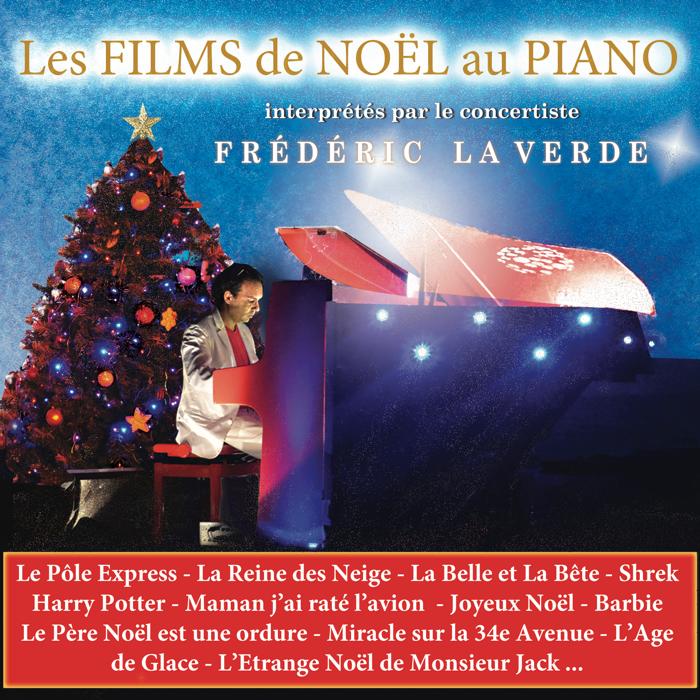 """""""LES PLUS BELLES MUSIQUES DE FILMS DE NOËL AU PIANO""""  CD album - Le Piano Rouge"""
