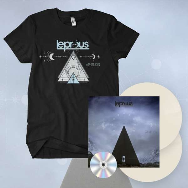 Leprous - 'Aphelion' *EXCLUSIVE* Gatefold Creamy White 2LP+CD & T-Shirt Bundle - Leprous