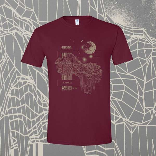 Leprous - 'Floating' Fitted Maroon T-Shirt - Leprous