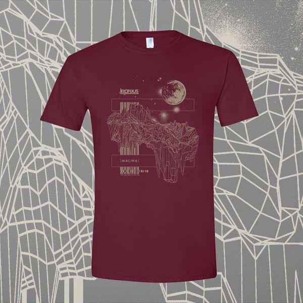 Leprous - 'Floating' Maroon T-Shirt - Leprous