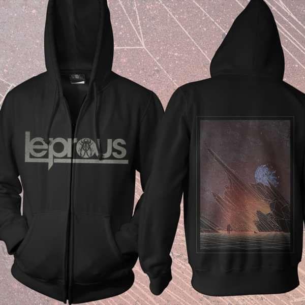 Leprous - 'Malina' Black Zip Hoody - Leprous