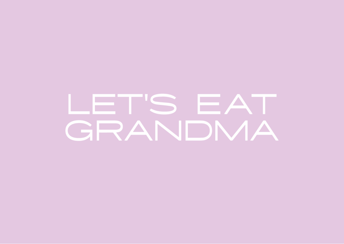 Let's Eat Grandma logo - Iron-on vinyl transfer - Let's Eat Grandma