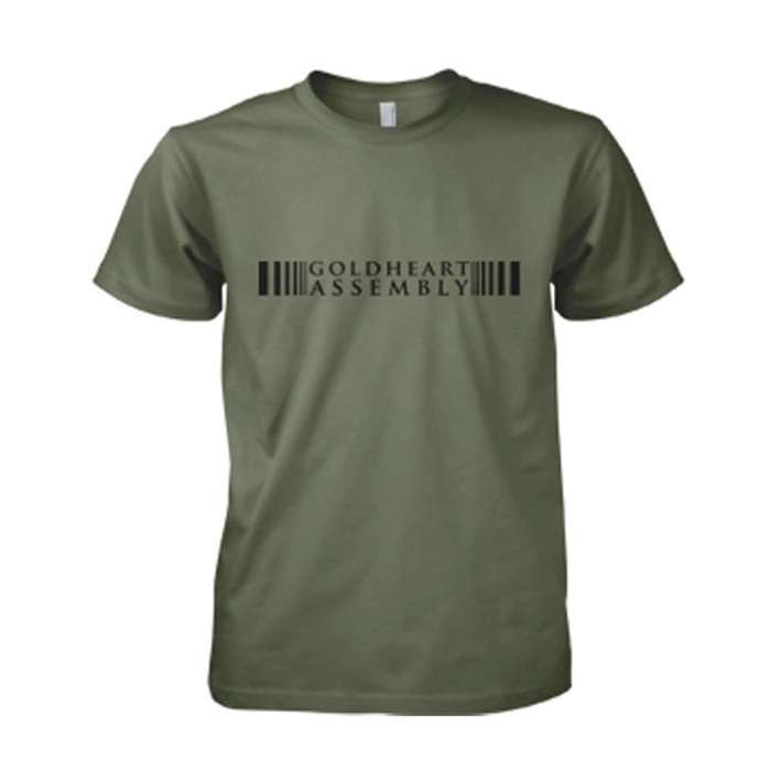 Goldheart Assembly Barcode Mens Olive tee (T-Shirt) - LGM Records