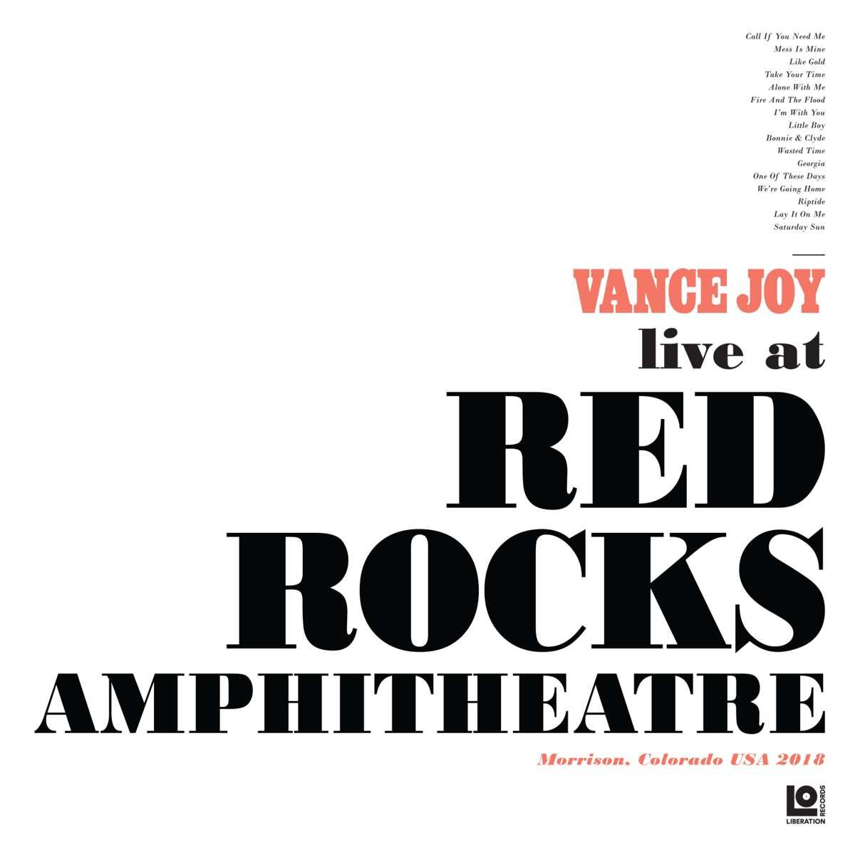 Vance Joy - Live at Red Rocks Amphitheatre (2LP - Limited Edition Rose Vinyl) - Liberation Records