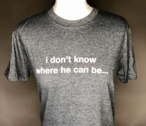 I don't know where he can be (grey) Affection tour T.Shirt - Lisa Stansfield