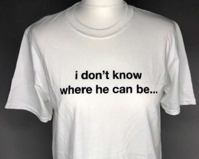 I don't know where he can be  (White) Affection tour  T-shirt - Lisa Stansfield