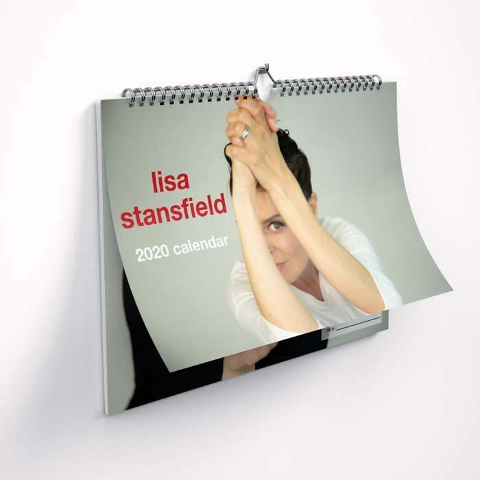 "Large Lisa 2020 Calendar with free PVC ""Deeper"" Lips keyring - Lisa Stansfield"