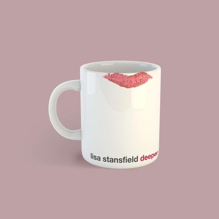 Lip Mug with free PVC Lips Keyring - Lisa Stansfield
