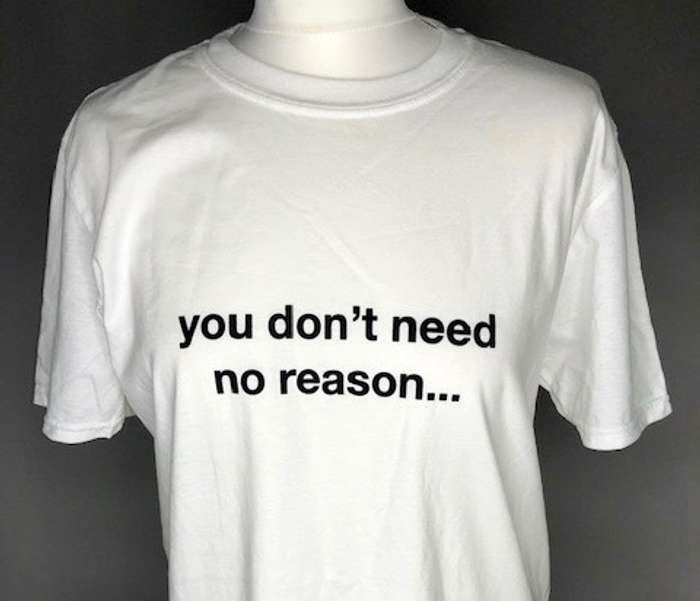 you don't need no reason (White) Affection tour T-shirt - Lisa Stansfield