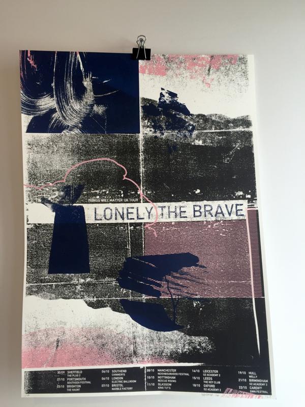 Autumn 2016 Tour Screenprint - Lonely The Brave