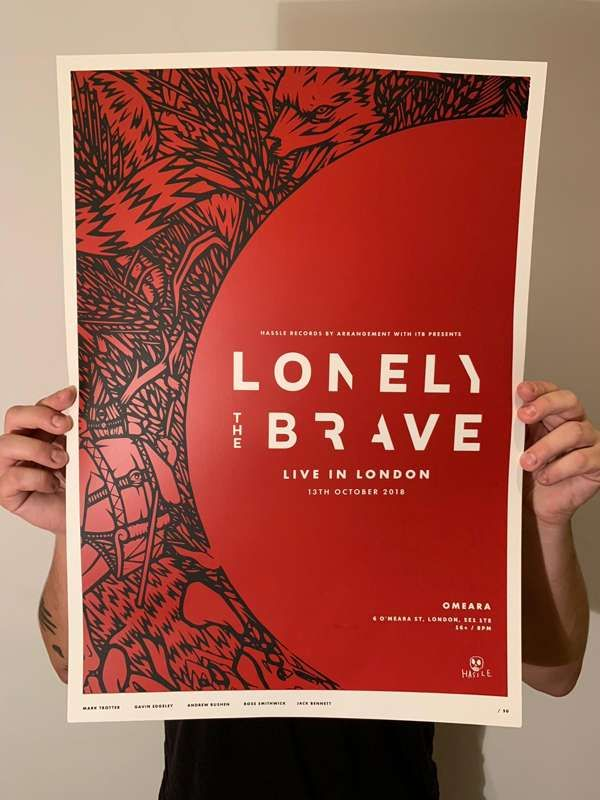 Omeara Screenprint (LIMITED STOCK) - Lonely The Brave