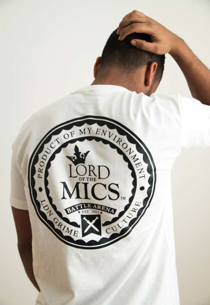 White T-shirt - Lord of the Mics